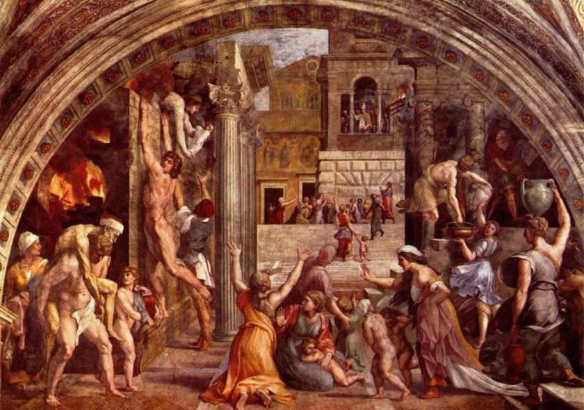 1483-1520__1514__Raffaello__Incendio_nel_Borgo_All_(Stanza_di_Eleodoro)_
