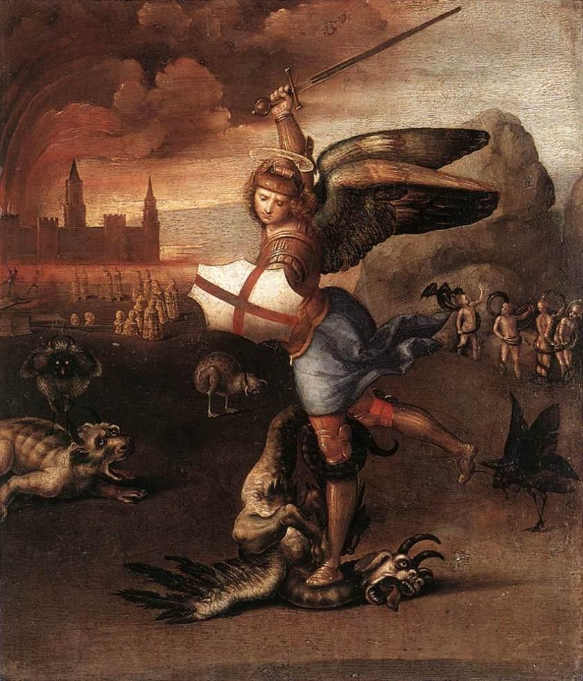 Raffaello. San Michele vince satana. 1504. Museo del Louvre
