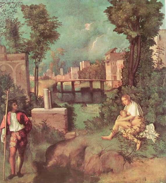 Giorgione. La tempesta. Gallerie dell'Accademia, Venezia.