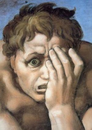 Michelangelo. Sistina. Dannati. 001