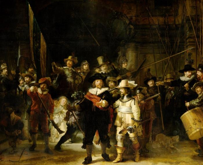 rembrandt-harmenszoon-van-rijn-de-nachtwacht-ronda-di-notte-rijksmuseum-amsterdam