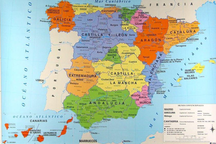 Spagna 001mappa_regioni_spagna