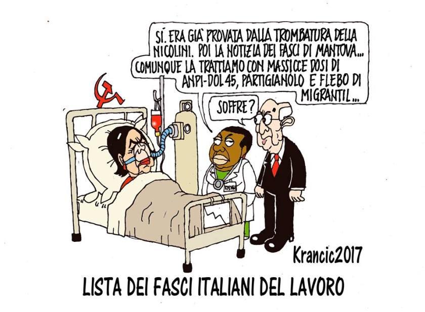 Lista dei fasci italiani del lavoro boldrini in coma for Lista politici italiani