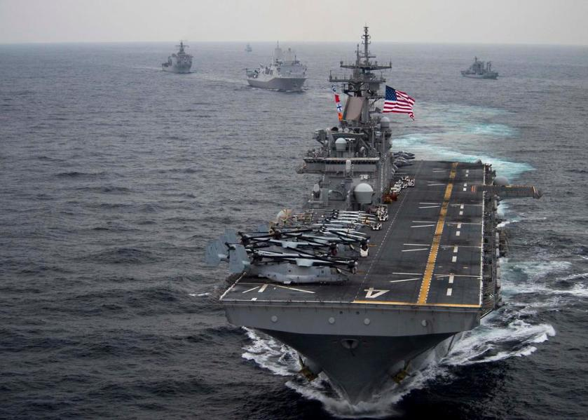USS Boxer joins South Korea US drill