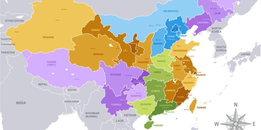 Cina. Regioni. 001