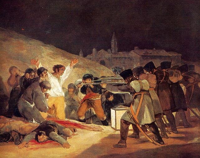 Goya Francisco. Los fusilamientos del tres de mayo. Museo del Prado, Madrid. 1814