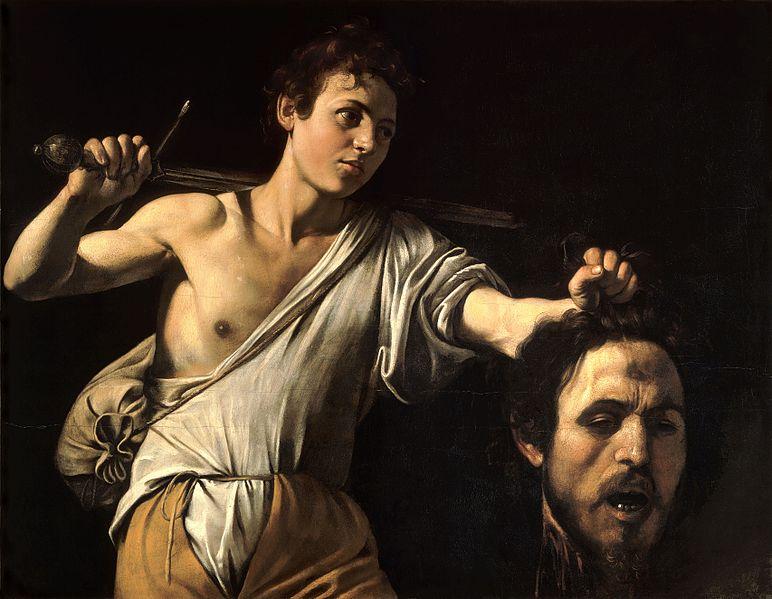 Caravaggio. Davide con la testa di Golia