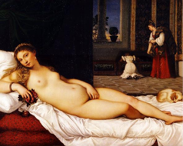 Tiziano. Venere di Urbino. Galleria degli Uffizi. 1538