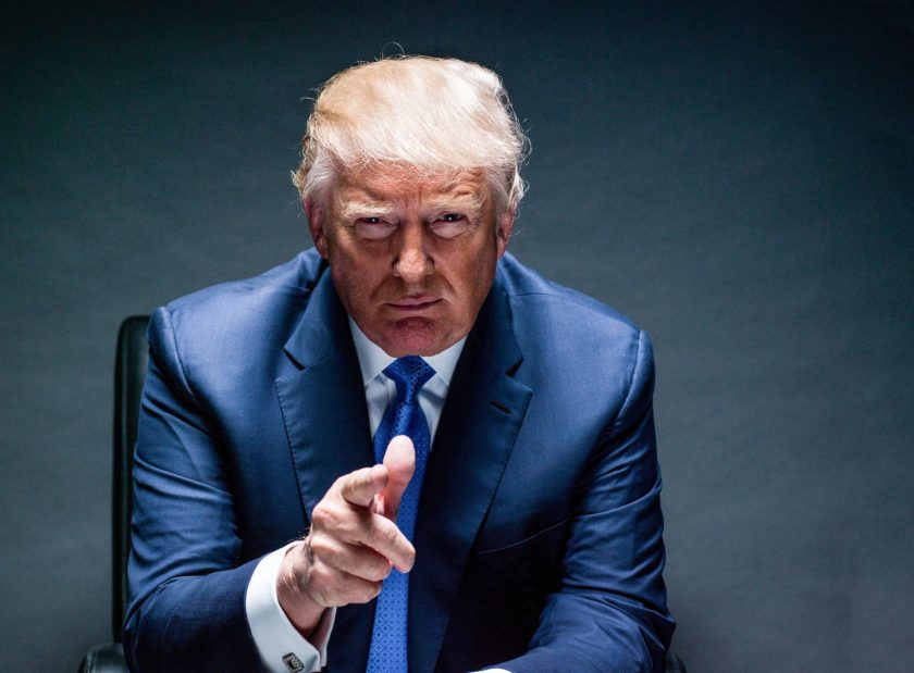 Donald Trump photographed at Trump Tower in NYC