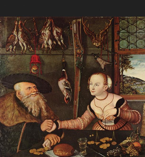 Cranach Lucas der Ältere. Die Bezahlung. Nationalmuseum Stockholm. 1532.