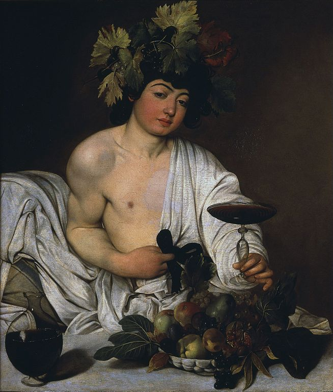 Merisi Michelangelo da Caravaggio. Bacco Adolescente. 1596 - 1597. Galleria degli Uffizi