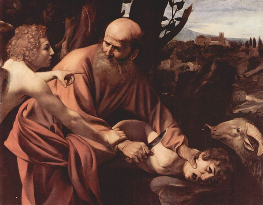 Merisi Michelangelo da Caravaggio. Sacrificio di Isacco. 1596 - 1597. Galleria degli Uffizi