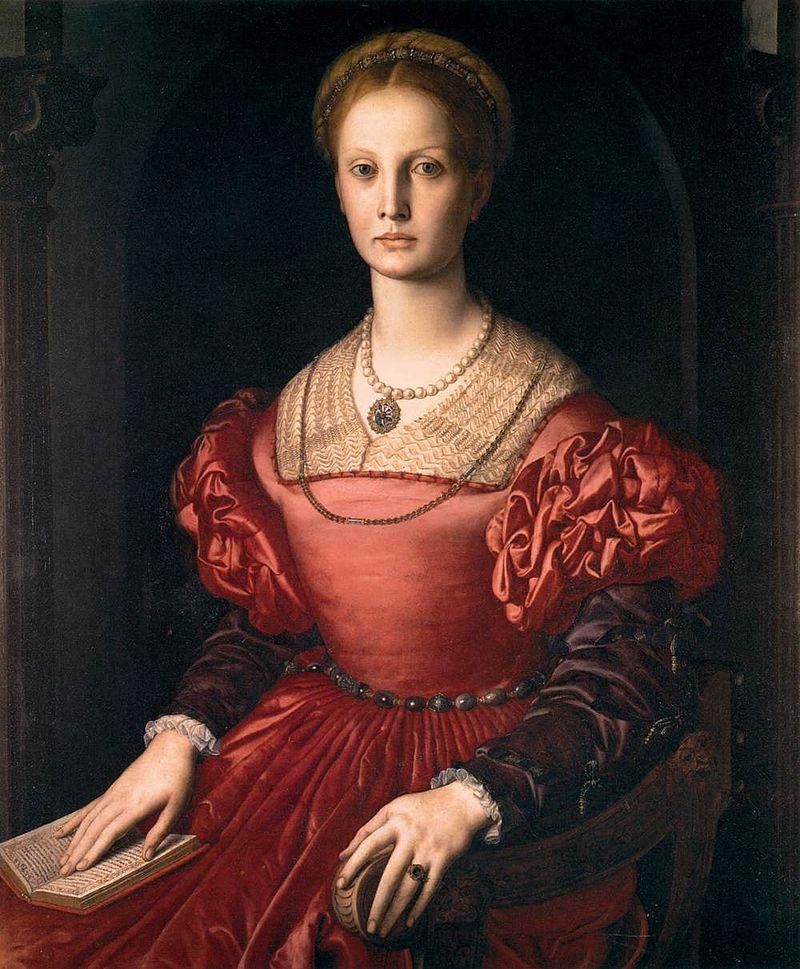 Bronzino Angelo. Ritratto di Lucrezia Panciatichi. 1541. Galleria degli Uffizi.