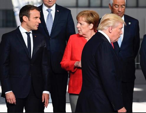 Trump, Macron, Merkel 001