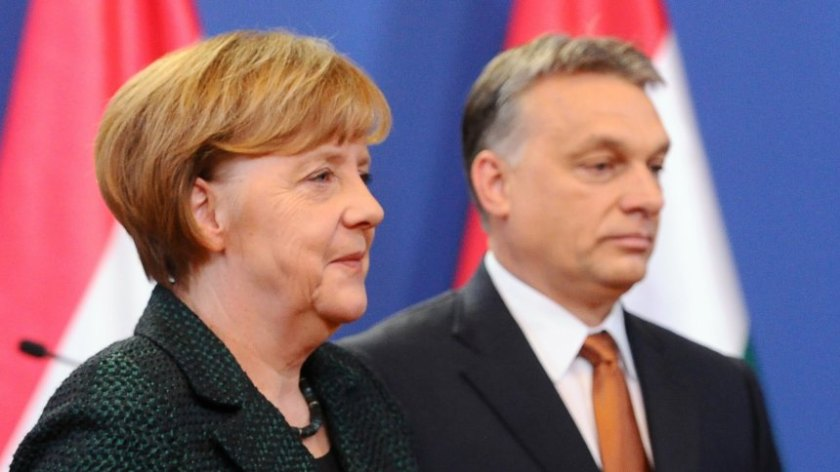 HUNGARY-GERMANY-MERKEL-ORBAN