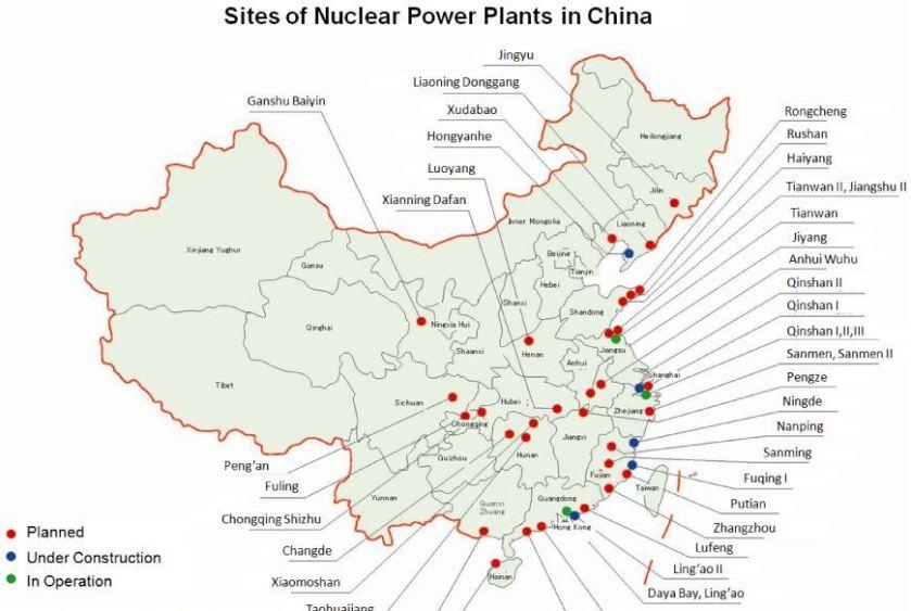 Cina. Centrali atomiche. 001