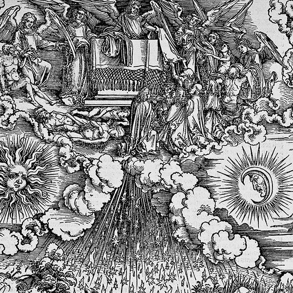 Dürer Albrecht. Apertura del Quinto Sigillo