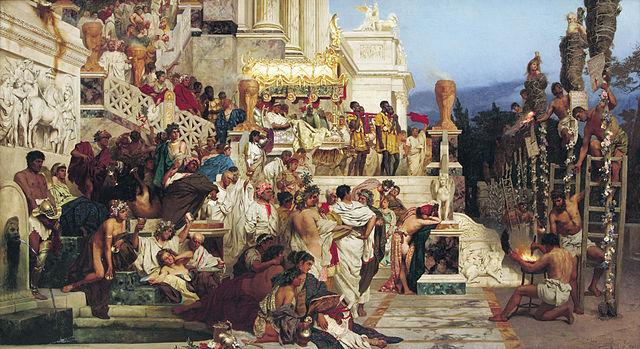 Siemiradzki Henryk. Le fiaccole di Nerone. 1876. National Museum Kraków.