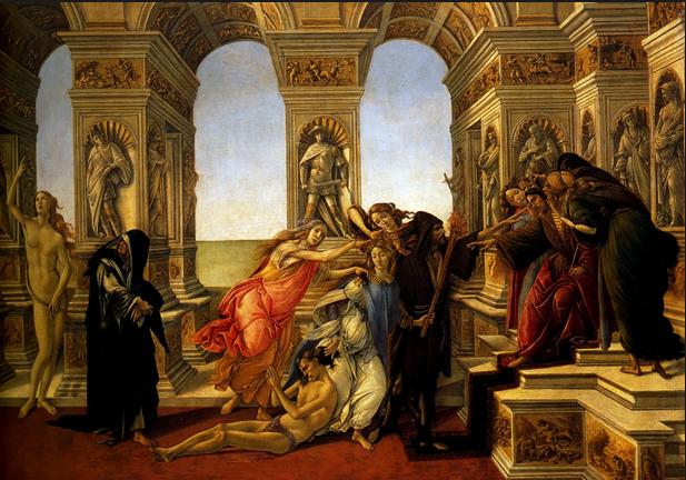 Botticelli. La Calunnia. 1496. Firenze, Galleria degli Uffizi.