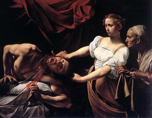 Caravaggio. Giuditta ed Oloferne. 001