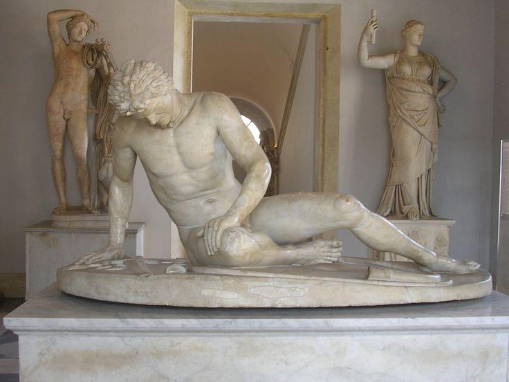 Galata Morente. Pergamo, 220 - 230 a.C.. Museo Capitolino. Roma.