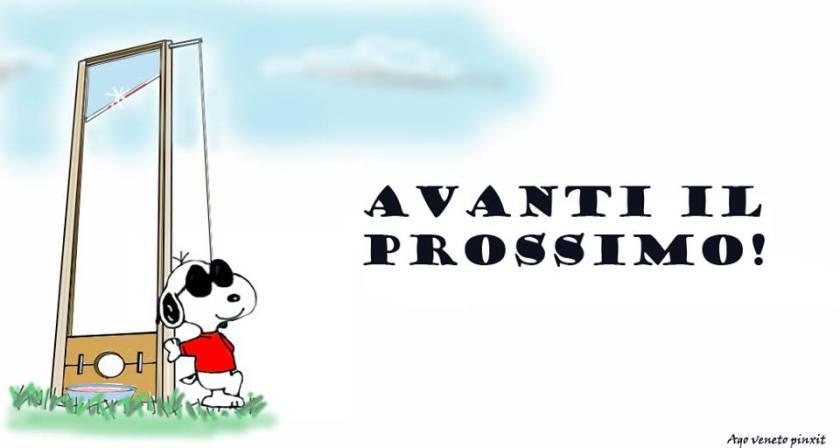 Ghiliottina. Snoopy.