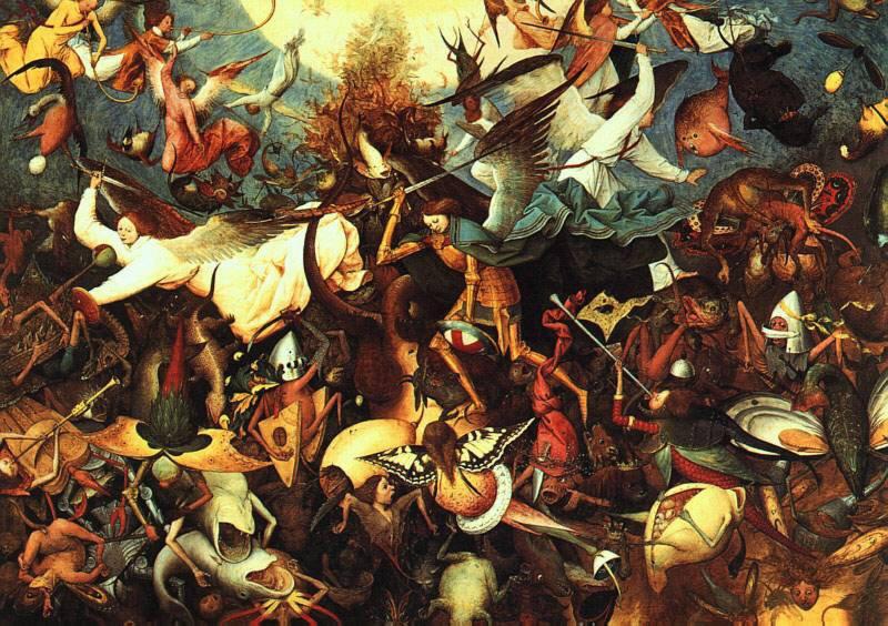Breughel il Vecchio. 1562. La caduta degli angeli ribelli.