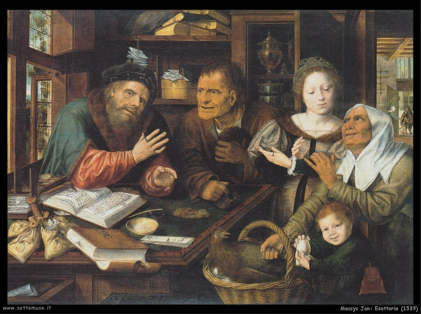 Matsys Jan. (Belgio 1509-1575). Esattore delle Tasse. 1539