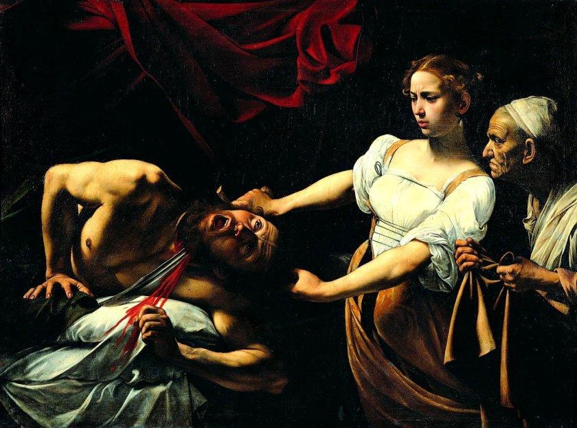 Michelangelo Merisi da Caravaggio (1573–1610). Giuditta e Oloferne. Galleria Nazionale d'Arte Antica. Roma