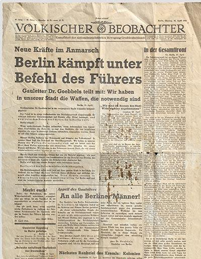 Völkischer Beobachter. 1945-04-27. Ultimo Numero.