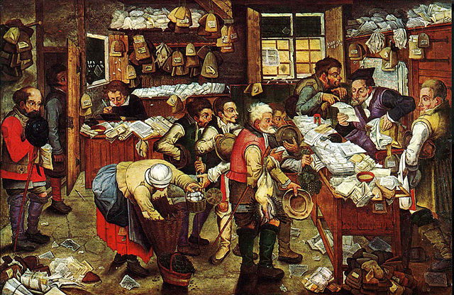 brueghel il giovane. pagamento delle tasse. fisher_museum_of_art