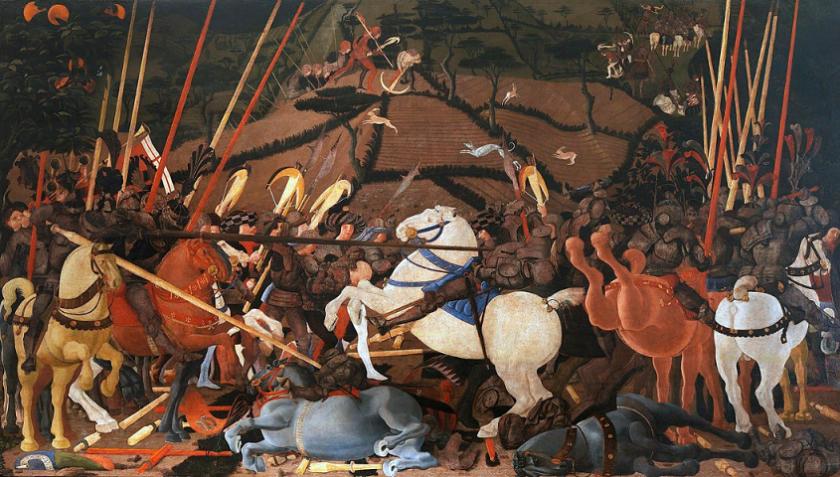 Paolo Uccello. Battaglia di San Romano. Uffizi. 001