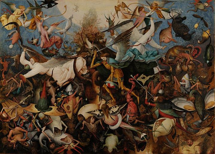 Brügel il Vecchio. Caduta degli angeli ribelli. Museo Reale. Bruxelles.