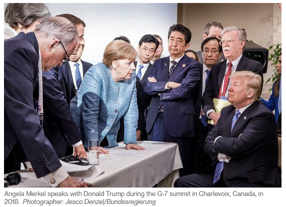 Merkel Trump G7