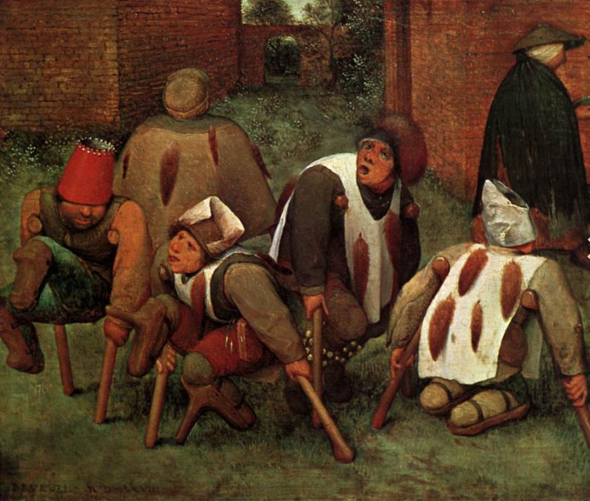 Brügel Pieter, il Vecchio. Gli storpi. 1568.