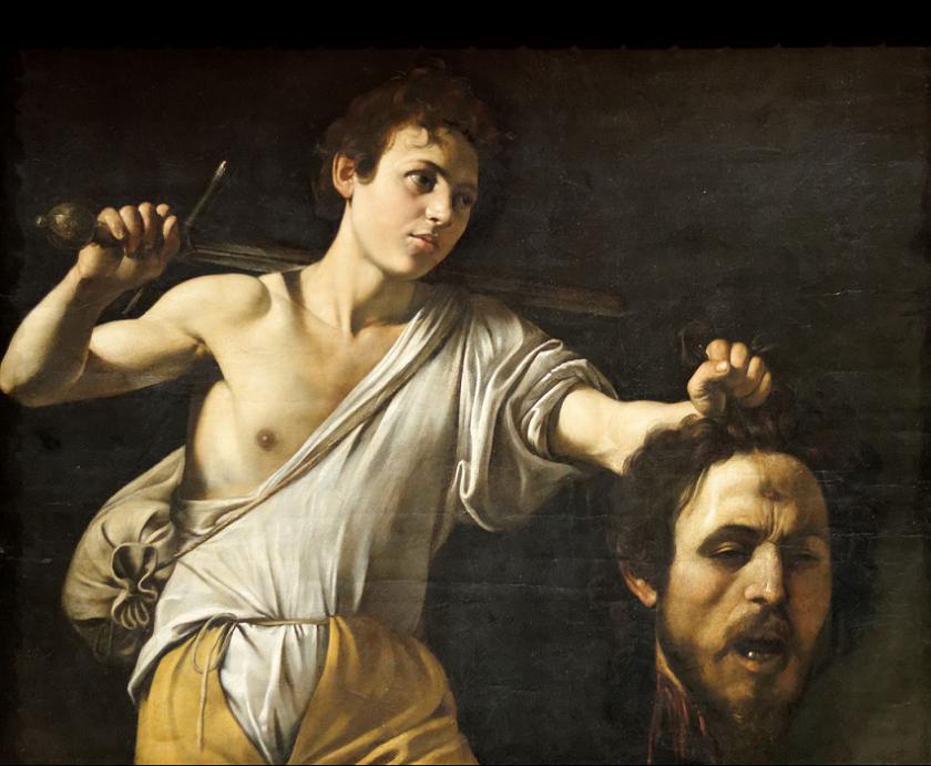 Caravaggio. Davide con la testa di Golia (Caravaggio Vienna). 1607. Kunsthistorisches Museum, Vienna.