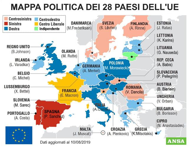 Europa Mappa Politica