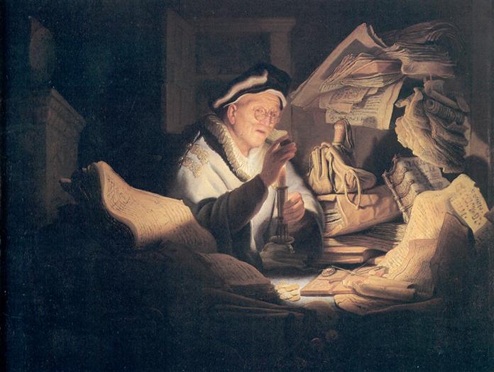 Rembrandt. Il Cambiavalute.