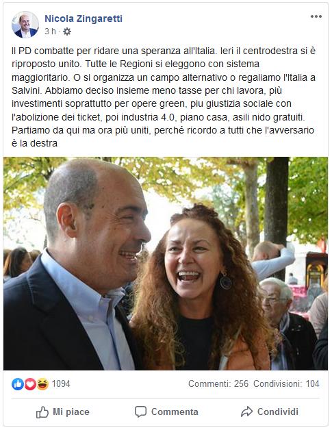 2019-10-20__Zingaretti Facebook