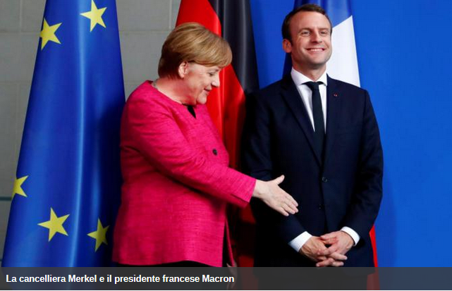 Macron Merkel Parigi