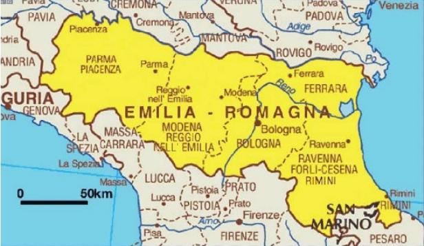 Risultato immagini per parma cartina emilia romagna