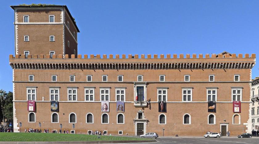 Palazzo Venezia. Voglia di balcone.