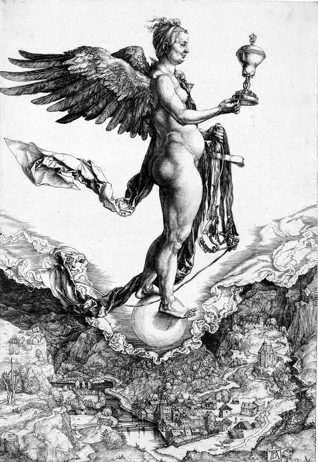 Dürer. Nemesi, la dea della vendetta.