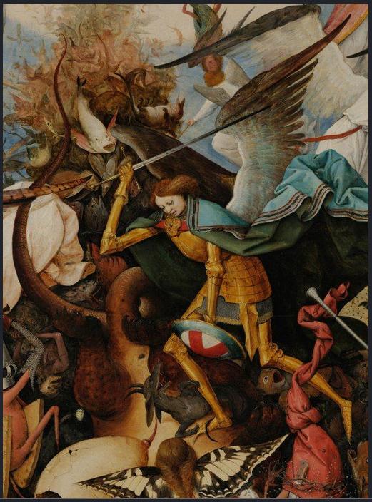 Bruegel Pietr, il Vecchio. Caduta degli angeli ribelli.