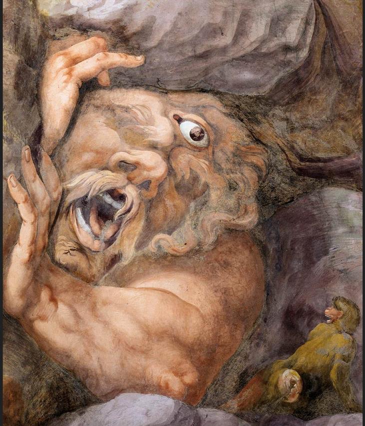 Giulio Romano. Mantova. Palazzo Te. Caduta dei Giganti. 003 Particolare