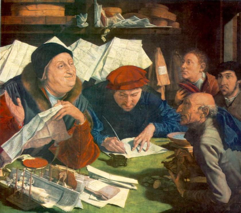 Marinus Van Reymerswaele, L'Esattore, 1542 Alte Pinakothek, Munich__