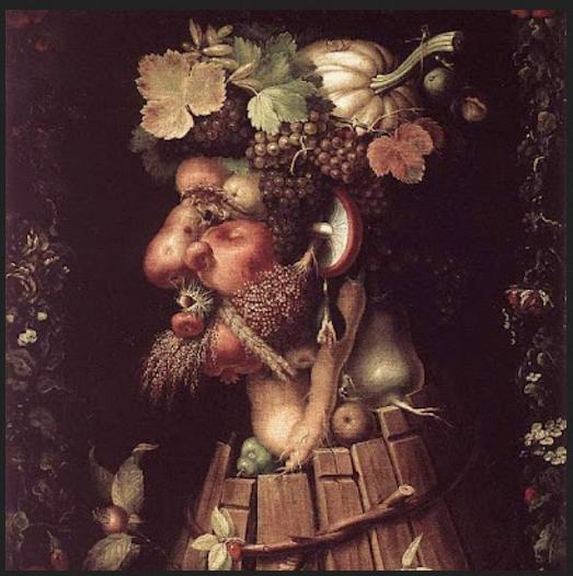 Arcimboldo. Il Vino. Parigi, Musèe du Louvre, olio su tela cm. 76x64 001