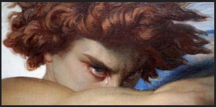Cabanel Alexandre. L'angelo caduto. 1847. Museè Fabre di Montpellier. Particolare