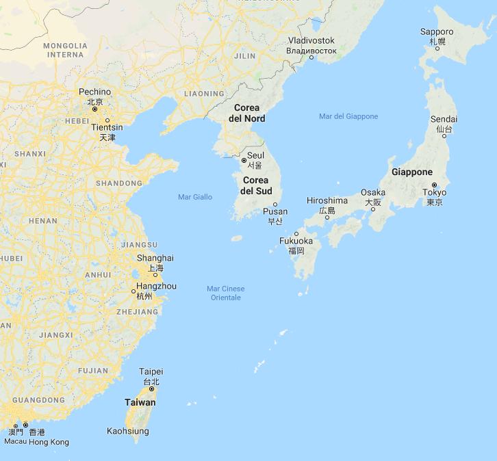 Cina Mar Giallo Mare Cinese orientale