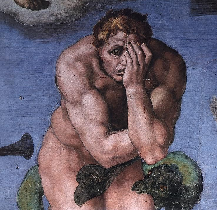 Michelangelo. Giudizio Universale. Il Dannato